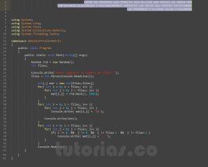 programacion en c#: datos centrales de una matriz