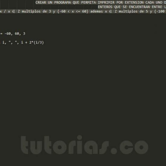 programacion en pseudocodigo: enteros multiplos de 3 y 5 por extension