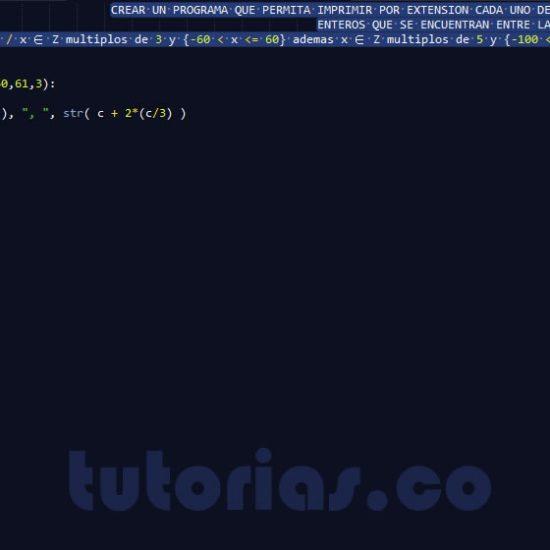 programacion en python: enteros multiplos de 3 y 5 por extension