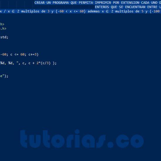 programacion en turbo C: enteros multiplos de 3 y 5 por extension