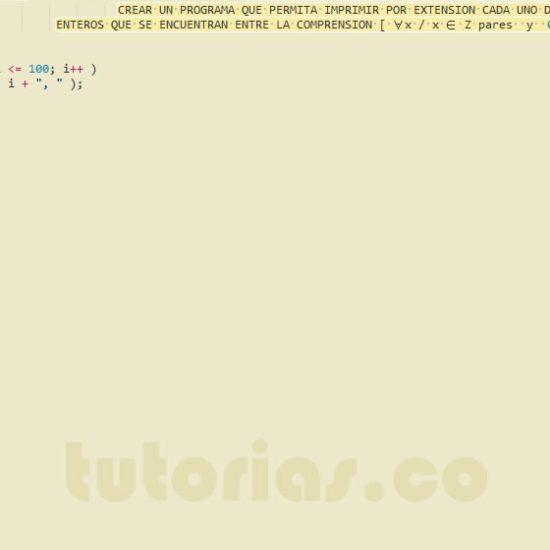 programacion en javascript: enteros pares por extension