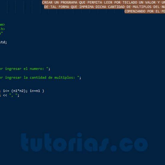 programacion en C++: multiplos de un numero