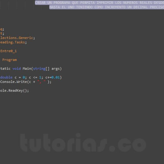 programacion en c#: reales entre 0 y 1