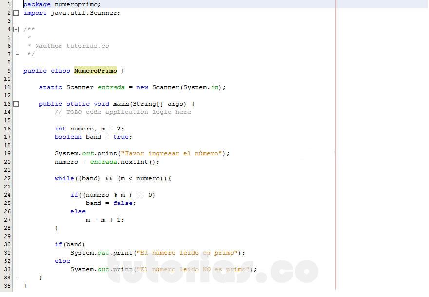 Ciclo While Java Numero Primo Tutorias Co Tutorias Co