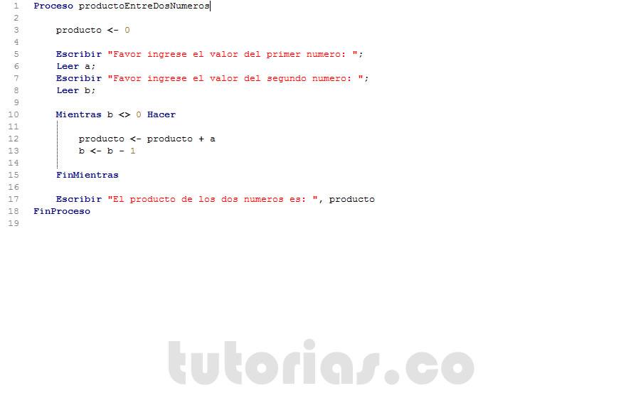 Ciclo mientras pseint producto entre dos nmerostutorias figura programacion en pseint producto entre dos numeros diagrama de flujo ccuart Images