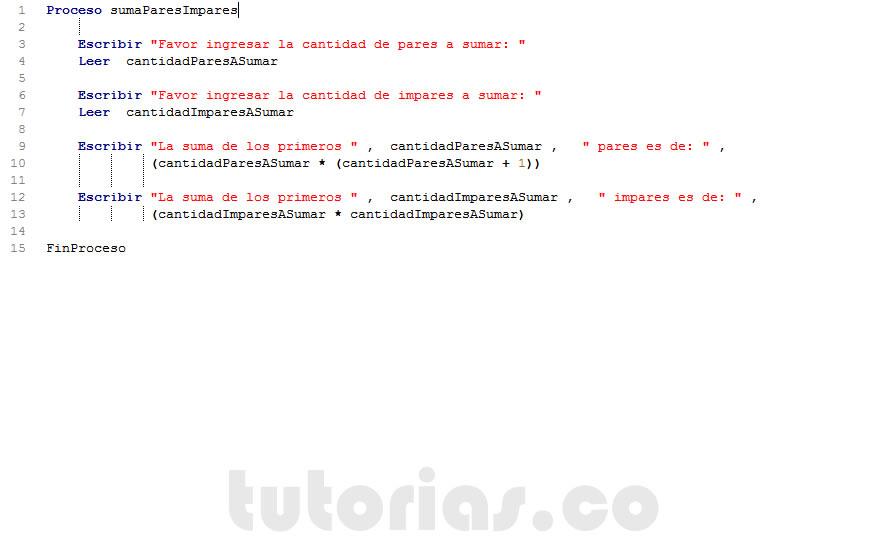 Operadores pseint suma de pares e imparestutorias tutorias figura programacion en pseint suma de pares e impares diagrama de flujo suma de numeros ccuart Gallery