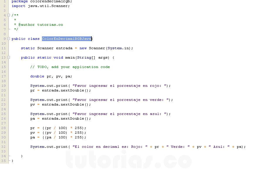 Figura Programacion Ena Color Rgb En Decimal