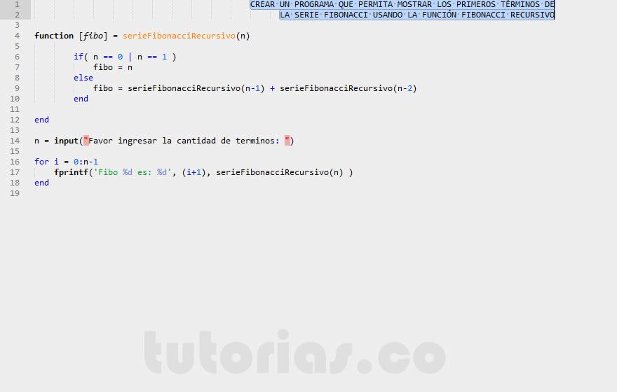 Recursividad Matlab Funcion Fibonacci Recursiva