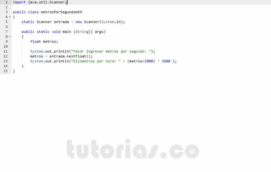 Figura Programacin En Java Metros Por Segundo A Kilometros Hora