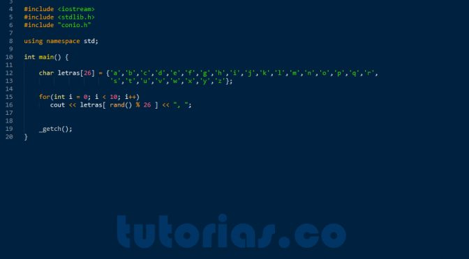 Arrays Visual C Generar Letras Aleatorias Tutorias Co
