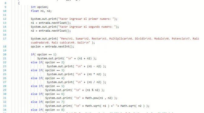 Sentencia If Else Java Calculadora Basica Tutorias Co