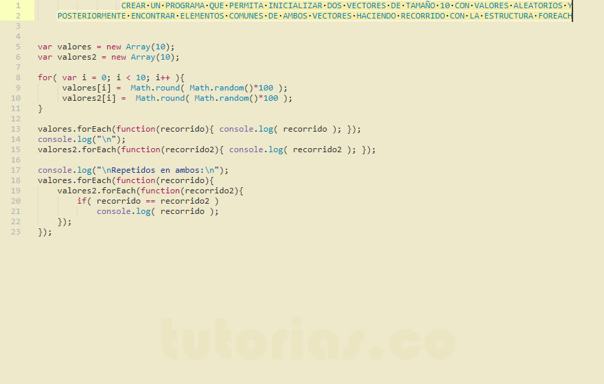 Arrays Javascript Comparacion De Vectores Con Foreach